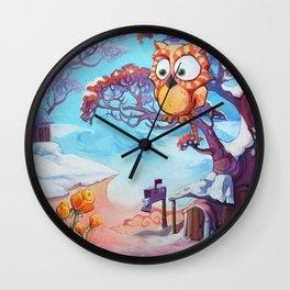 Hibouvernal Wall Clock