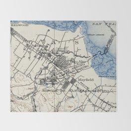 Vintage Map of Palo Alto California (1899) Throw Blanket