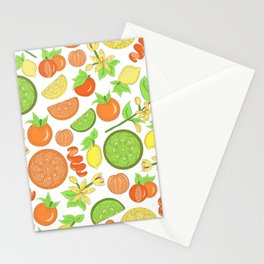 Citrus Garden Pattern Stationery Cards