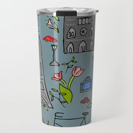 Cycling Through Paris Travel Mug