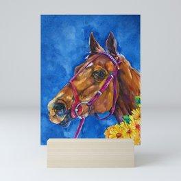 Secretariat Painting, Large Race Horse Watercolor Art Mini Art Print