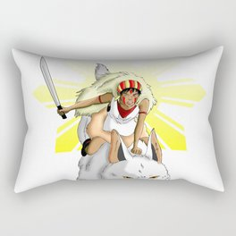 Andrea Bonifacio: San (Princess Mononoke) x Bonifacio x Gabriela Silang Rectangular Pillow
