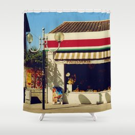 French Village Bakery Shower Curtain