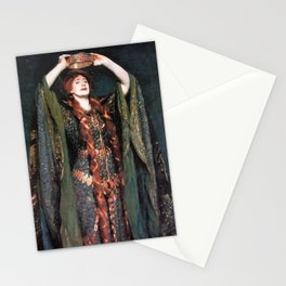 Ellen Terry at Lady MacBeth by John Singer Sargent - Vintage Fine Art Oil Painting Stationery Cards
