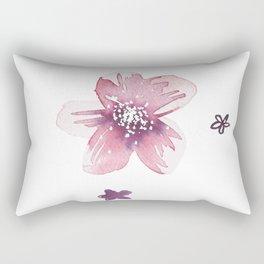 Lilac Pink Watercolour Fiordland Flower Rectangular Pillow