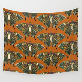 swallowtail butterfly copper Wall Tapestry