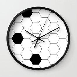 Hexagon Tiles Wall Clock