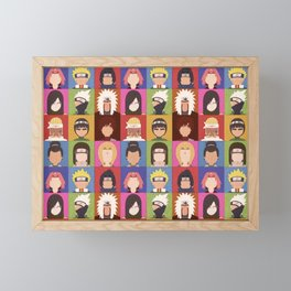 Anime Characters Framed Mini Art Print