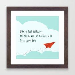 Vacation Brain Framed Art Print