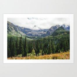 Tatry Koscielec Orla Perc Mountains Art Print