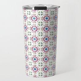 Gemstone Mandala Repeating Circle Pattern Travel Mug