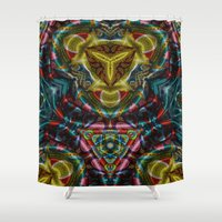 dress Shower Curtains featuring Dress by RingWaveArt