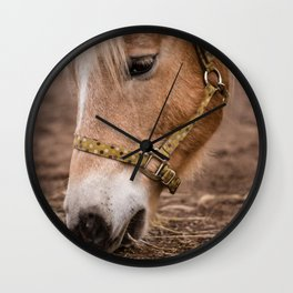 horse by Lesly Juarez Wall Clock