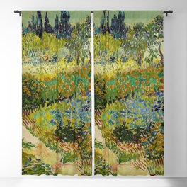 Garden at Arles / Flowering Garden with Path by Vincent Van Gogh (1888) Blackout Curtain