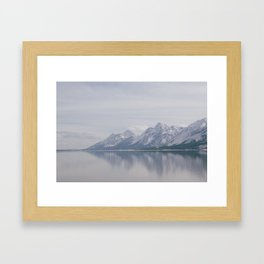 Water and Mountains  Framed Art Print