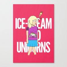 Ice-Cream and Unicorns Canvas Print