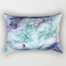 Growth- Abstract Botanical Fluid Art Painting Rectangular Pillow