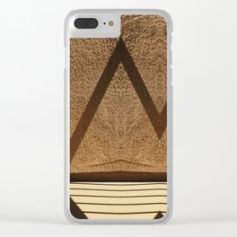 Shadows creating lines on a wall Clear iPhone Case