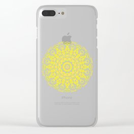 Mandala 12 / 2 eden spirit yellow Clear iPhone Case