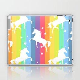 Rainbow Unicorns Laptop & iPad Skin