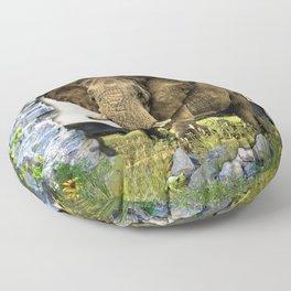 African Elephant Floor Pillow