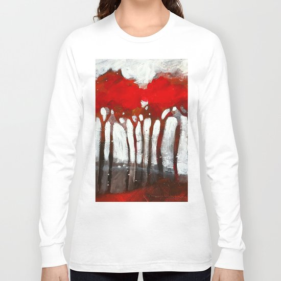 Red trees Long Sleeve T-shirt