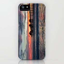 Huntington Beach Sunset  1/26/14 iPhone Case
