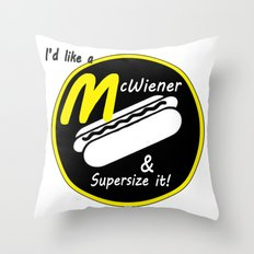 McWiener...Supersized Throw Pillow