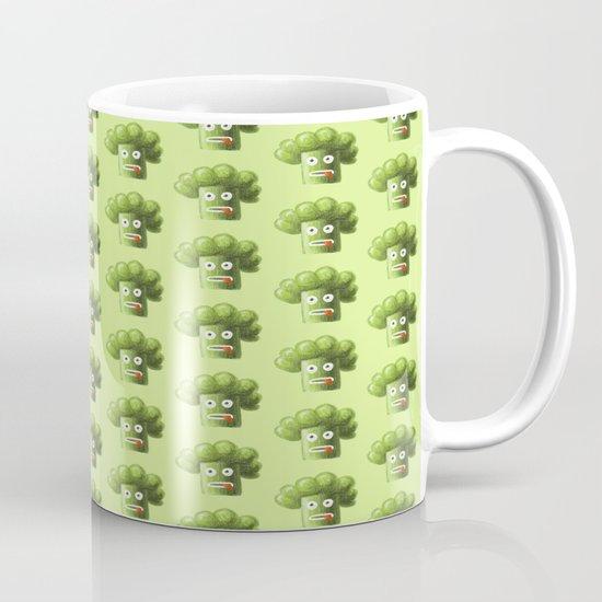 Green Funny Cartoon Broccoli Mug