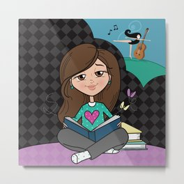 Book Lover Metal Print
