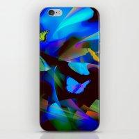 butterflies iPhone & iPod Skins featuring Butterflies by tarrby/Brian Tarr
