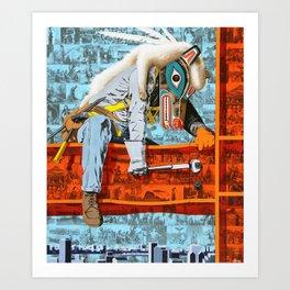 Totem Builder Art Print