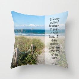 Beach Day Throw Pillow