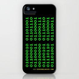Binaire Gervais iPhone Case