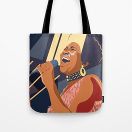 Aretha Franklin Portrait Tote Bag