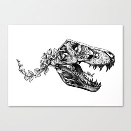 Jurassic Bloom - The Rex.  Canvas Print