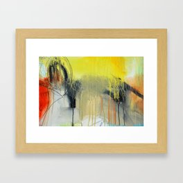 Gold Yellow Abstract Print  Framed Art Print