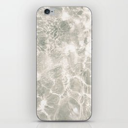 Clear water | beach fine art photography | sea wave and sand iPhone Skin
