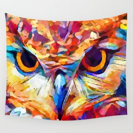 Owl Watercolor 2 Wall Tapestry