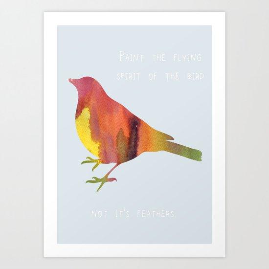 The Flying Spirit Art Print