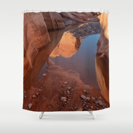 After the Rain - II, Valley_of_Fire Canyon, NV Shower Curtain
