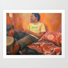 Rayo at Little Morrocco Cafe Art Print