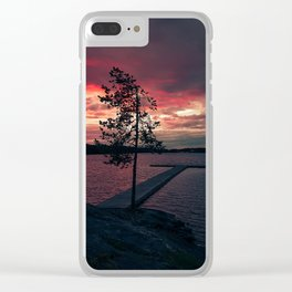 Bloody Sky. Clear iPhone Case