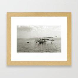 Flying Boat - Sea of Galilee near Tiberias - 1931 Framed Art Print
