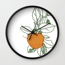 Citrus Season Wall Clock