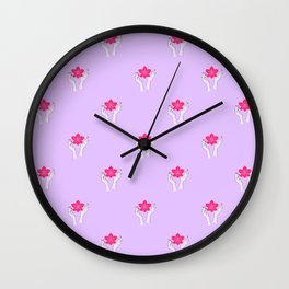Holy orchid pattern Wall Clock