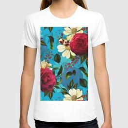 Mystical Blue Rose Garden T-shirt