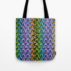Native Wave Digital Painting Tote Bag