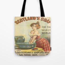 Vintage poster - Scotland's Soap Tote Bag