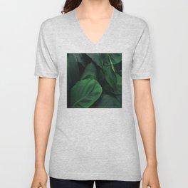 Green Nature Deep Leaves Unisex V-Neck